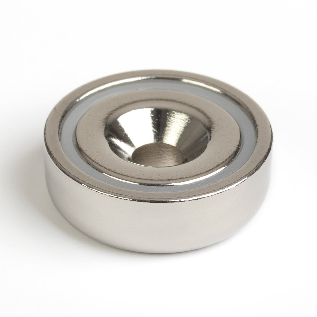 Magnet neodym kulatý průměr 20x6x4,5mm, max. nosnost 10,5 kg
