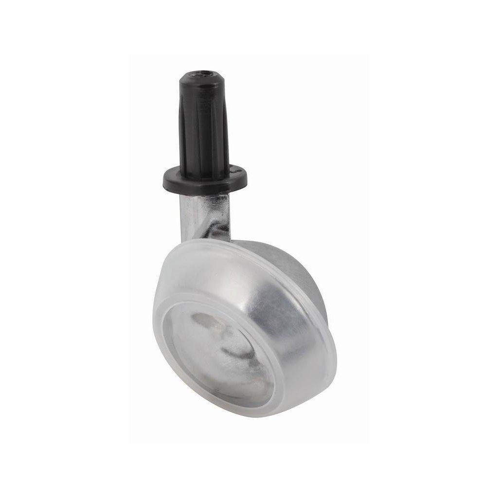 Nábytkové kolečko pro měkké podlahy Ø 50 mm, s pouzdrem