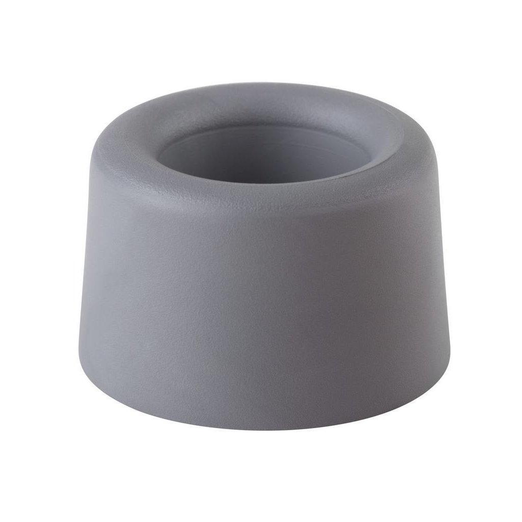 Dveřní zarážka, průměr 40x25mm, šedá