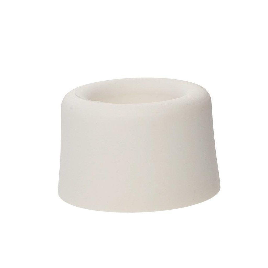 Dveřní zarážka, průměr 40x25mm, bílá
