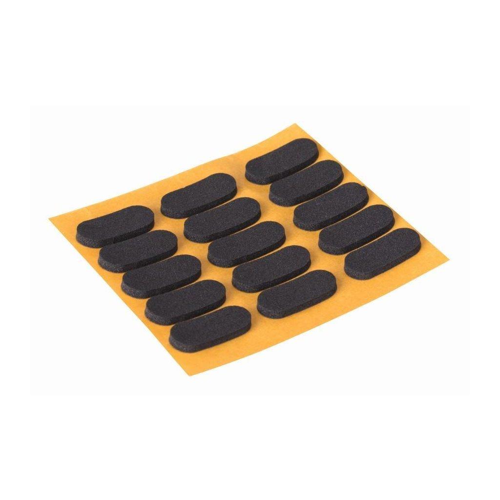 Tlumič nárazu 9x20mm, černý, 15 ks
