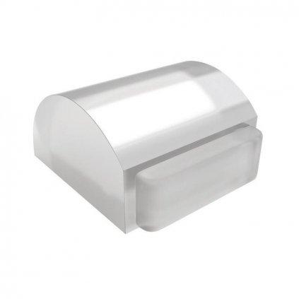 Dveřní zarážka 34x37x21mm, transparentní, samolepící