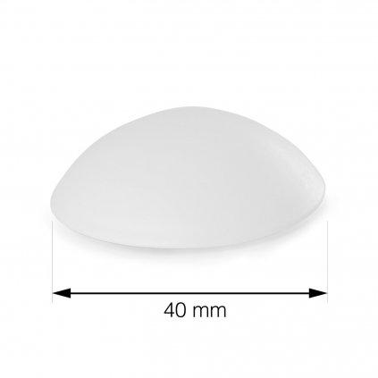 Dveřní zarážka, průměr 40mm, bílá, 6 ks