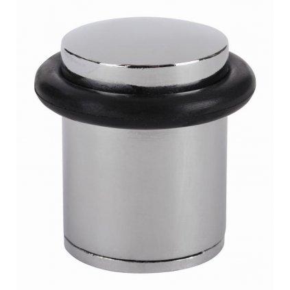 Dveřní zarážka, průměr 25x38mm, chrom