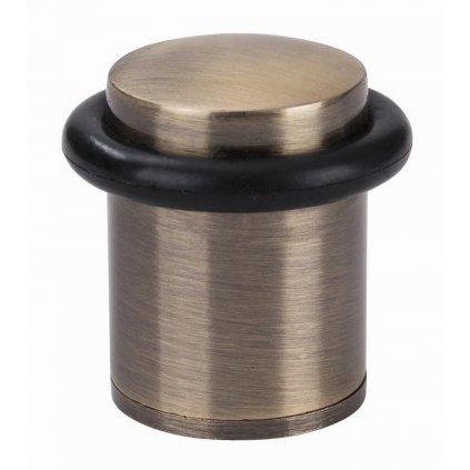 Dveřní zarážka, průměr 25x38mm, mosaz antik