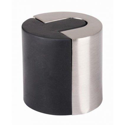 Dveřní zarážka, průměr 40x40mm, matný nikl