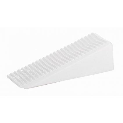 Dveřní klín 50x19x15,5mm, plast, bílý, 2 ks