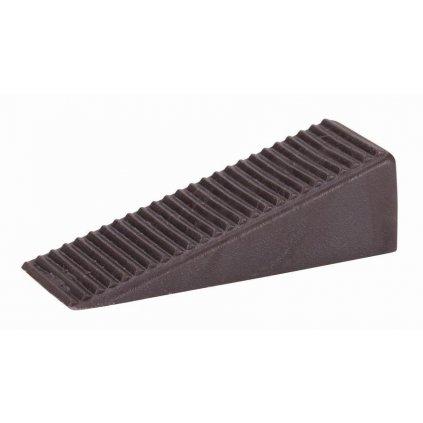 Dveřní klín 50x19x15,5mm, plast, hnědý, 2 ks