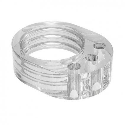 Dveřní zarážka na kliku, jednoduchá, plast, transparentní, 4ks