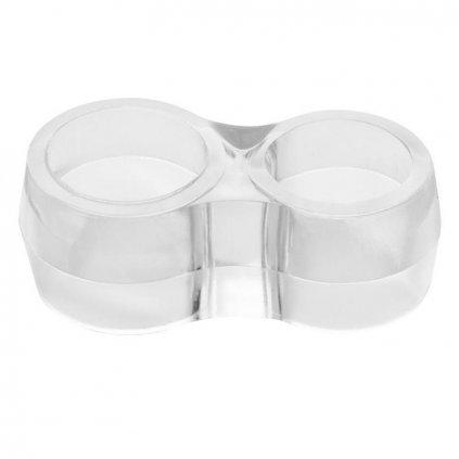 Dveřní zarážka na kliku, dvojitá, plast, transparentní, 4 ks