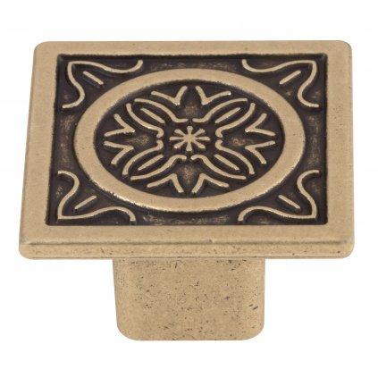 Nábytkový knopek Arcanum průměr 35mm, mosaz patina