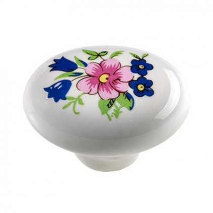 Nábytkový knopek Kytice, průměr 30x22mm, porcelán