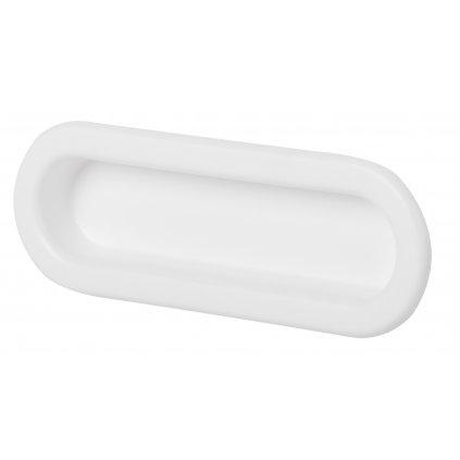 Nábytková úchytka pro posuvné dveře Nela, plast, bílá