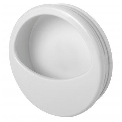 Nábytková úchytka pro posuvné dveře Gala, plast, bílá