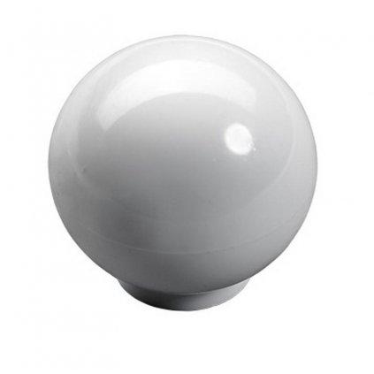 Nábytkový knopek Rotan, plast, bílý
