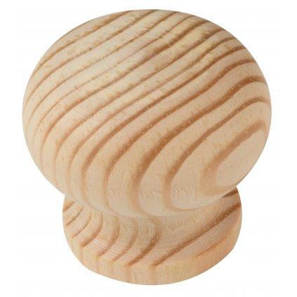 Nábytková knopka Lara, průměr 39mm, borovice přírodní