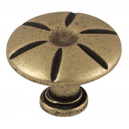 Nábytkový knopek Padova Ø 25mm, bronz
