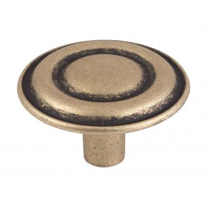 Nábytkový knopek Remi, průměr 33mm, bronz