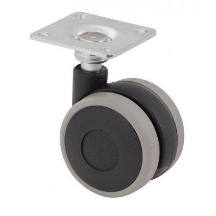 Nábytkové kolečko s destičkou, Ø  40 mm