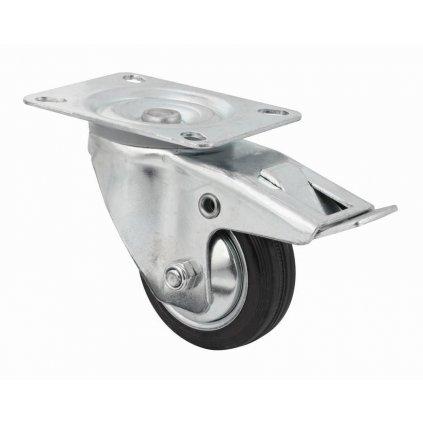 Transportní kolečko, otočné s brzdou, Ø  80 mm