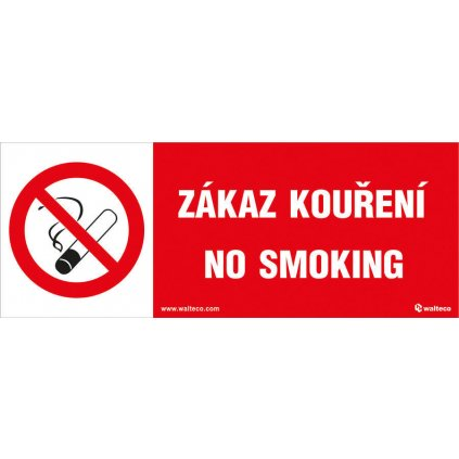 Zákaz kouření, No smoking 210x80mm, samolepka
