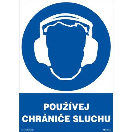Používej chrániče sluchu 210x297mm, formát A4, samolepka