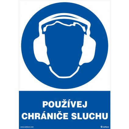 Používej chrániče sluchu 210x297mm, formát A4