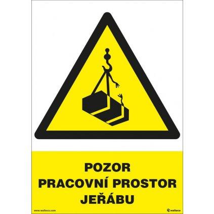 Pozor - pracovní prostor jeřábu 210x297mm, formát A4