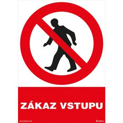 Zákaz vstupu 210x297mm, formát A4