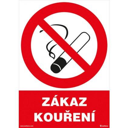Zákaz kouření 210x297mm, formát A4, samolepící