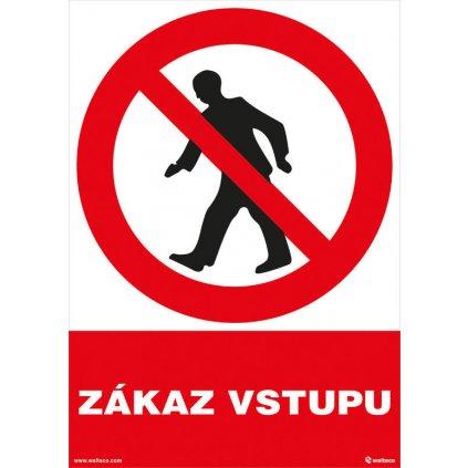 Zákaz vstupu 210x297mm, formát A4, samolepka