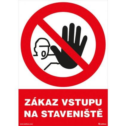 Zákaz vstupu na staveniště 210x297mm, formát A4