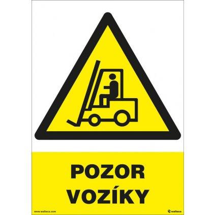Pozor - vozíky 210x297mm, formát A4, plastová tabulka
