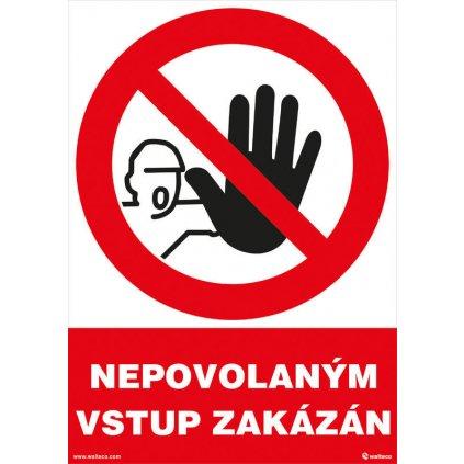 Nepovolaným vstup zakázán 210x297mm, formát A4, plastová tabulka