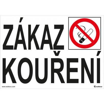 Zákaz kouření, 5 cm písmo