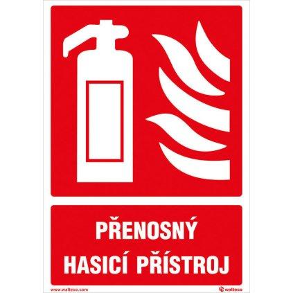 Přenosný hasicí přístroj (včetně textu)
