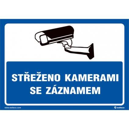 Střeženo kamerami se záznamem - MODRÁ