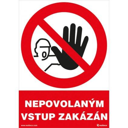 Nepovolaným vstup zakázán 148x210mm, formát A5, samolepka