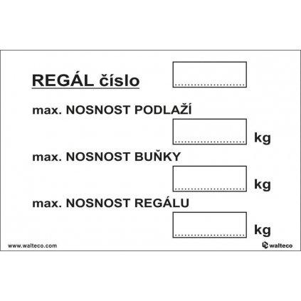 Označení regálu, 300x100mm, samolepka