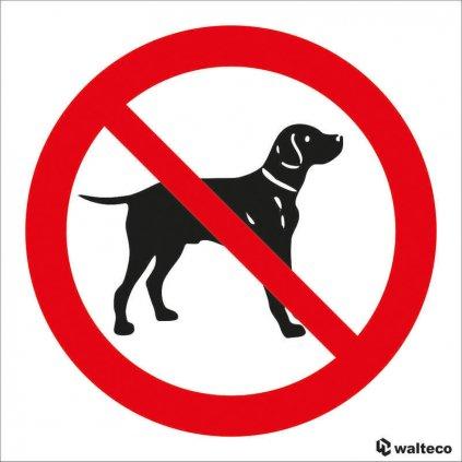 Zákaz vstupu se psem - symbol, 90x90mm, samolepka