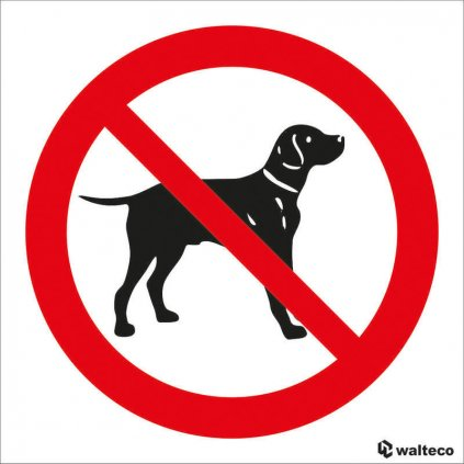 Zákaz vstupu se psem - symbol