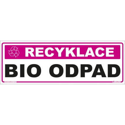 Recyklace - Bio odpad, 290x100mm, samolepka