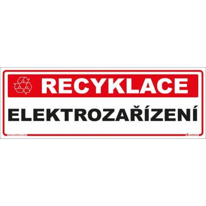 Recyklace - Elektrozařízení,  290x100mm, samolepka