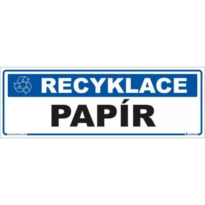 Recyklace - Papír,  290x100mm, samolepka
