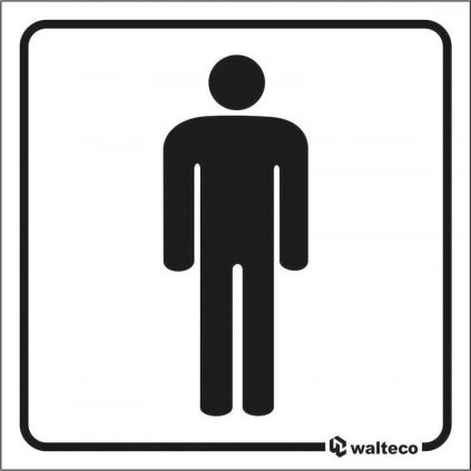Fólie inverzní/transparentní - WC Muži