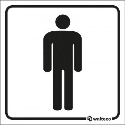 WC Muži, 80x80mm, samolepka