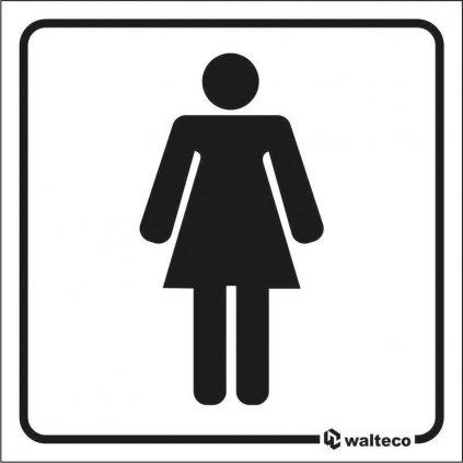 WC Ženy, 80x80mm, samolepka