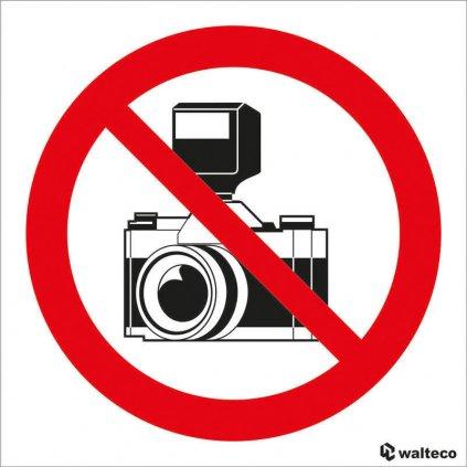 Zákaz fotografování - symbol 90x90mm, samolepka