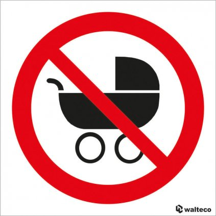 Zákaz kočárků - symbol