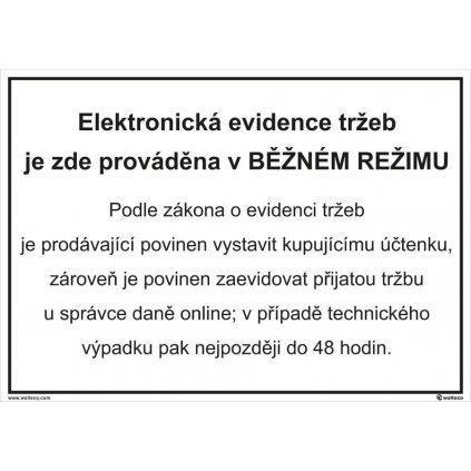 Elektronická evidence tržeb - běžný